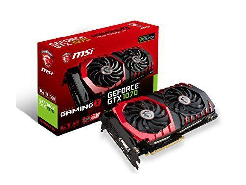 Msi Gaming Geforce Gtx 1070 8gb Gddr5 Sli Directx 12 Vr Ready Graphics Card Gtx 1070 Gaming X 8g Carscampus Graphic Card Video Card Msi