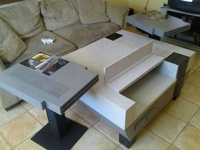 Nintendo nos coffee table and side tables end tables cartridges