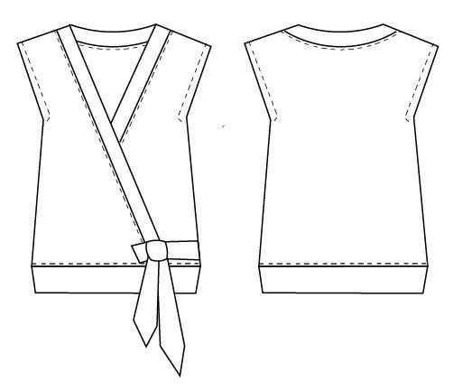 DANA TOP PDF sewing pattern and sewing tutorial for women. Woven ...