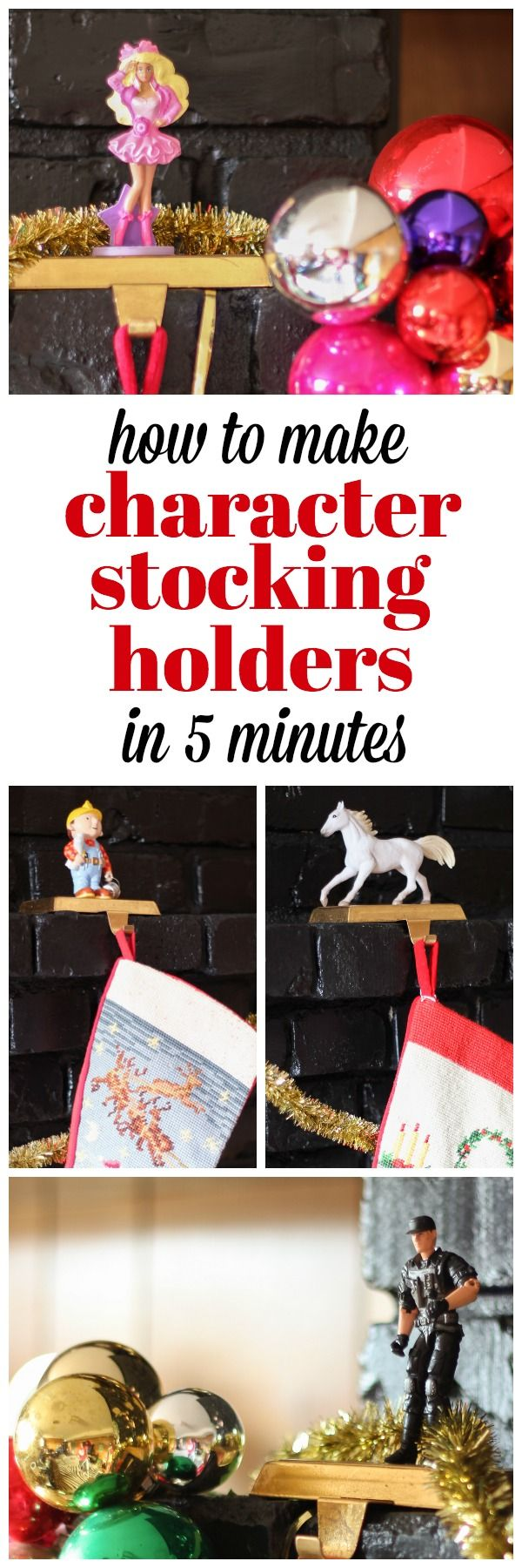 DIY Stocking Holder Make Unique Stocking Hangers in Five