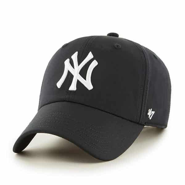 f9841c9f26c8f New York Yankees 47 Brand Black Trackster Clean Up Adjustable Hat ...
