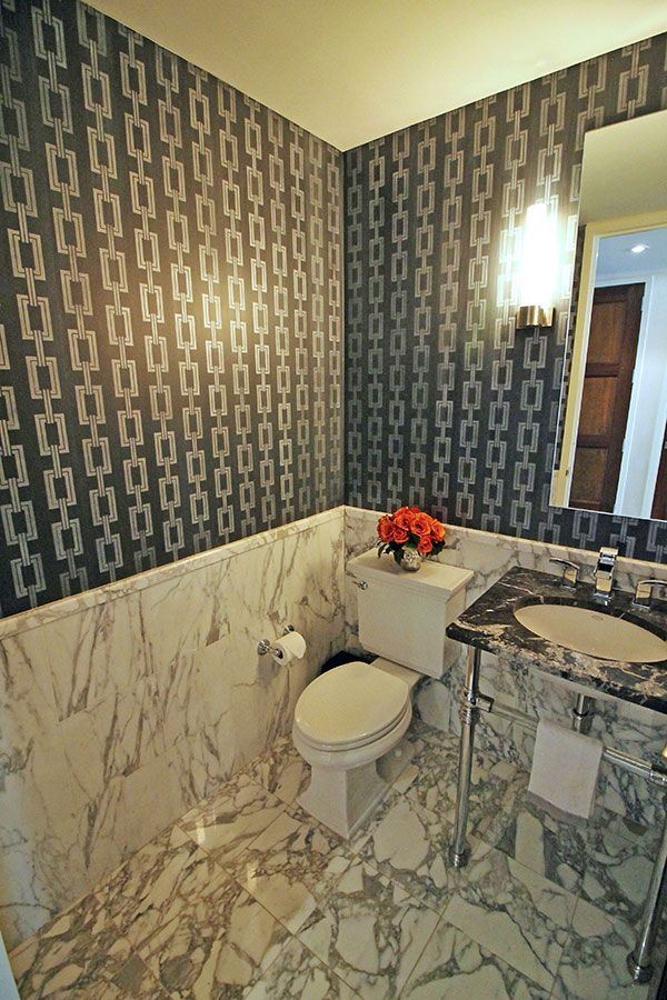 contemporary stenciled design with modern masters silver metallic