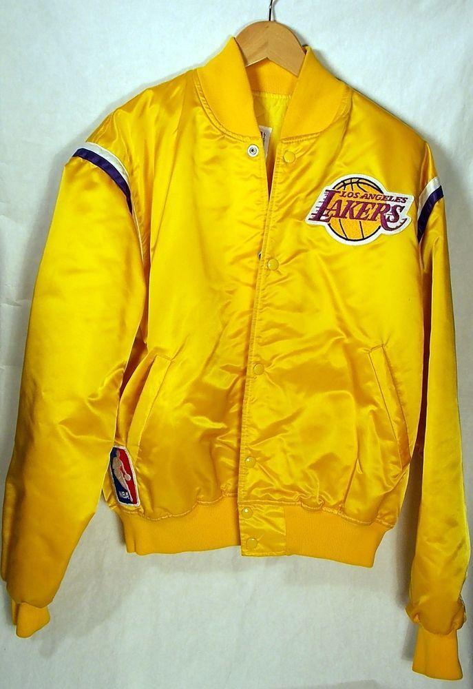 Vintage La Lakers Starter World Champions Yellow Gold Satin Jacket Mens Large Satin Jackets Mens Jackets Jackets