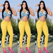 Colombian Fajas White Skinny Jeans Butt Lift Stretch Levanta Cola Slimming Curvy