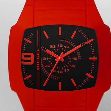 ANALOG $100.00 Style #: DZ1351  Who says being made of silicone is a bad thing? We certainly don't. Show off your love of all things enhanced with this blood-red watch.