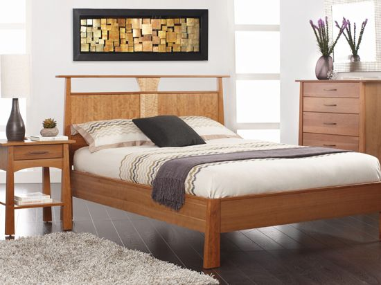 reflections bed cherry a mix of asian and american design makes a beautiful bed - Scandinavian Design Bed