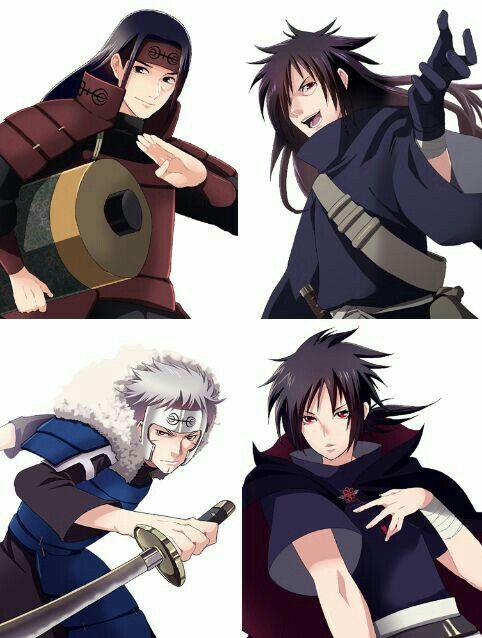 Hashirama, Tobirama, Izuna, Madara