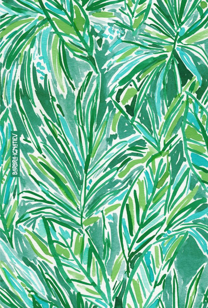 Funky Jungle Lily Wallpaper Prints Tropical Fabric