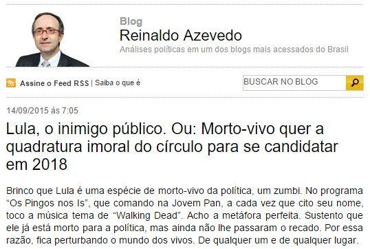 """BLOG DO IRINEU MESSIAS: Se Lula está """"morto"""", por que oposição tenta imped..."""