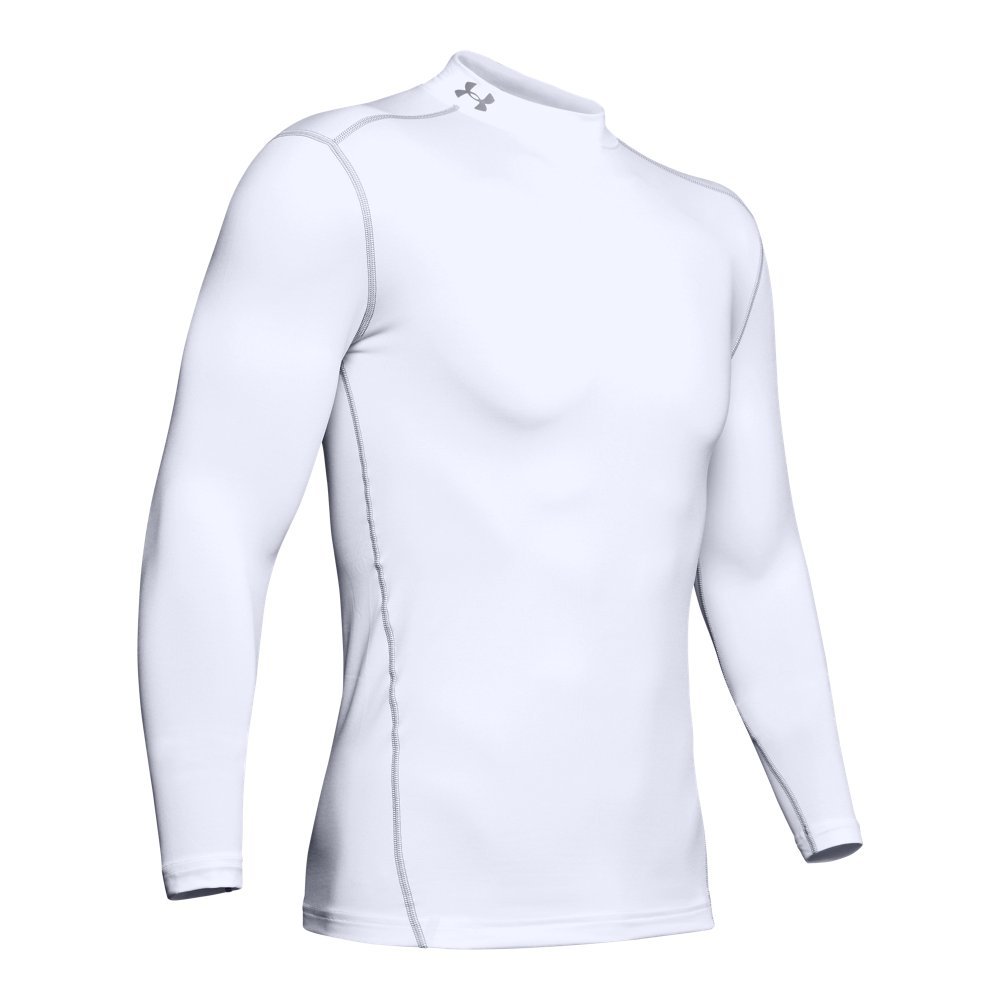 Under Armour Kids Boys ColdGear Mock Base Layer Junior Baselayer Top Compression