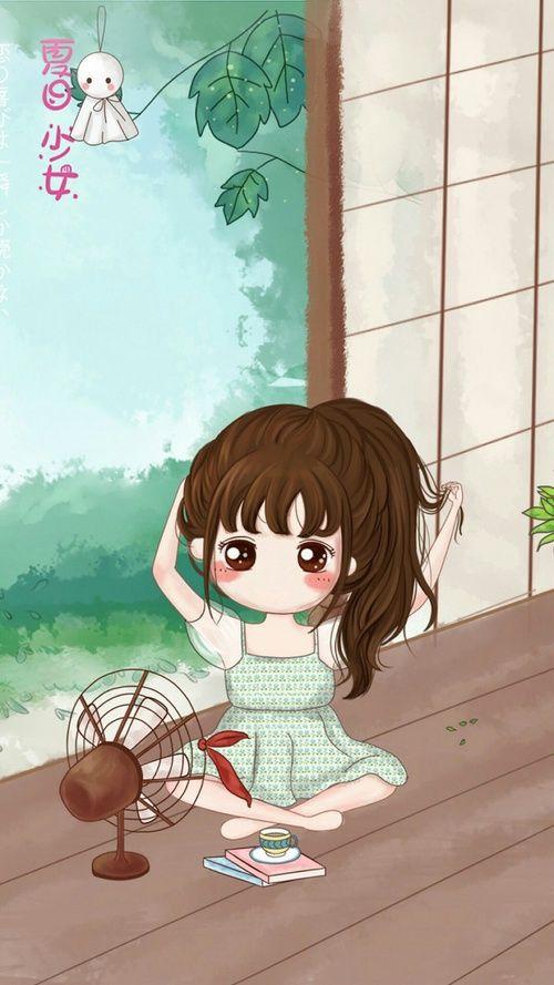 Art Girl Drawing And Summer Image Cute Cartoon Wallpapers Cute Drawings Anime Art Girl