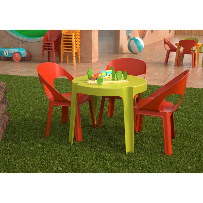Rita Kids 5 Piece Play Table And Chair Set Table Et Chaises Table Et Chaises De Jardin Table Et Chaise Enfant