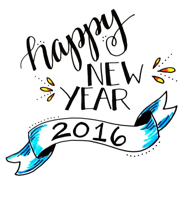 Happy New Year Lettering Design 28