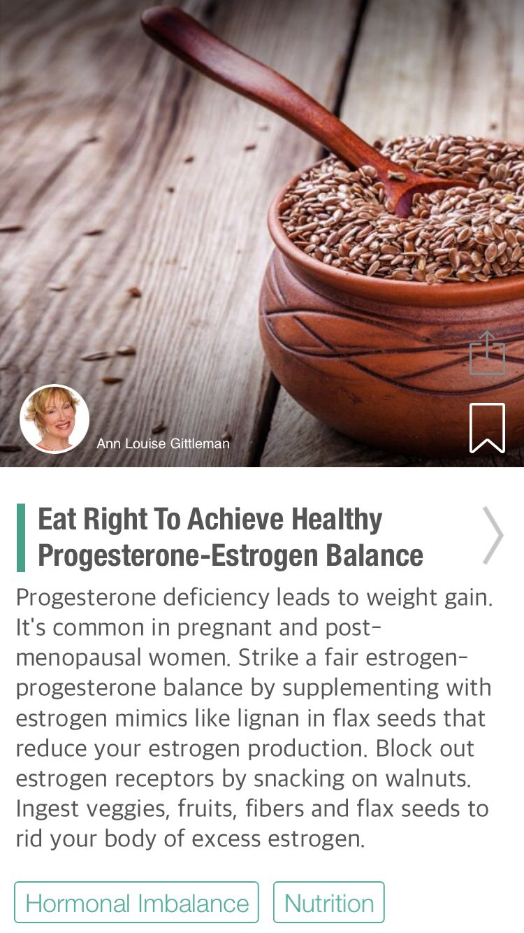 Eat Right To Achieve Healthy Progesterone-Estrogen Balance   Thyroid