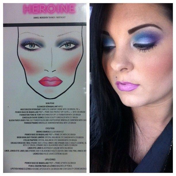 Purple, Teal, & White Makeup Look by Maegan Mapoles