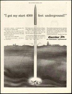 1944 Carrier Ad Print Ads Underground Air