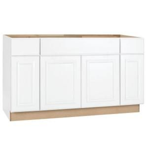 Hampton Bay Hampton Assembled 36 In X 34 5 In X 24 In Sink Base Kitchen Cabinet In Satin White Ksb36 Sw Kitchen Base Cabinets Base Cabinets Kitchen Cabinet Inspiration
