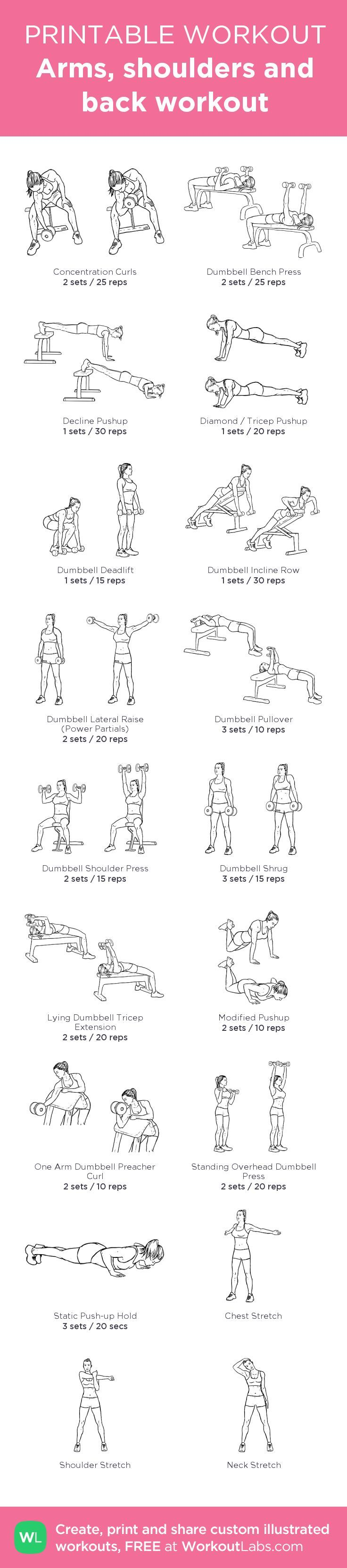 Arms, shoulders and back workout @WorkoutLabs #workoutlabs