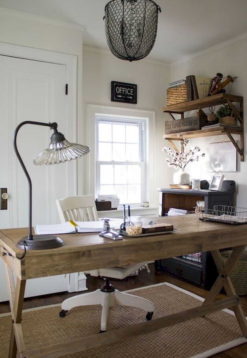 Home Office Furniture Home Office Decor Home Office Design: 40 Easy DIY Farmhouse Desk Decor Ideas On A Budget
