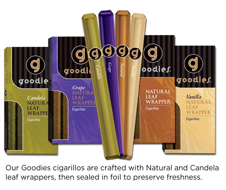 Swisher Goodies- natural leaf wrapped cigarillos #swisher