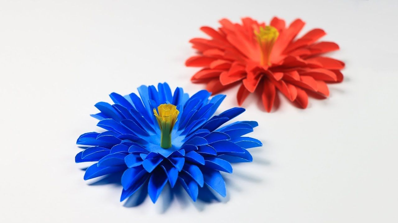 How To Make Aster Flower With Paper Paper Flower Making Paper