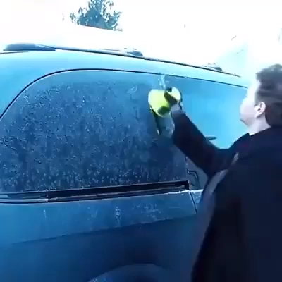 Magical Ice Removal Tool #cleaningcars