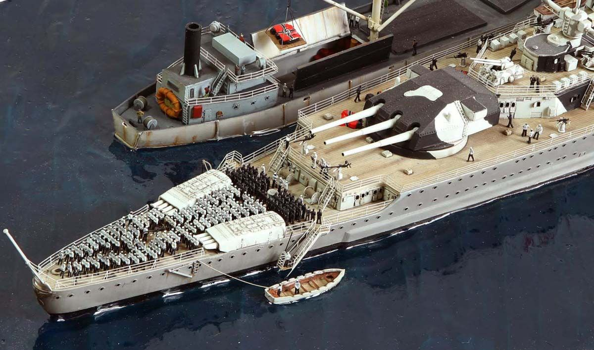 Aircraft carrier models large scale - Dkm Graf Spee By Kostas Katseas