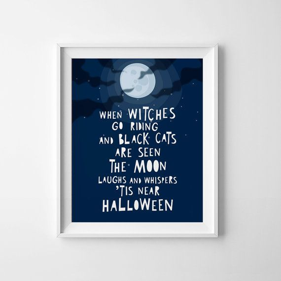 Halloween printable when witches go riding by MiniLearners on Etsy