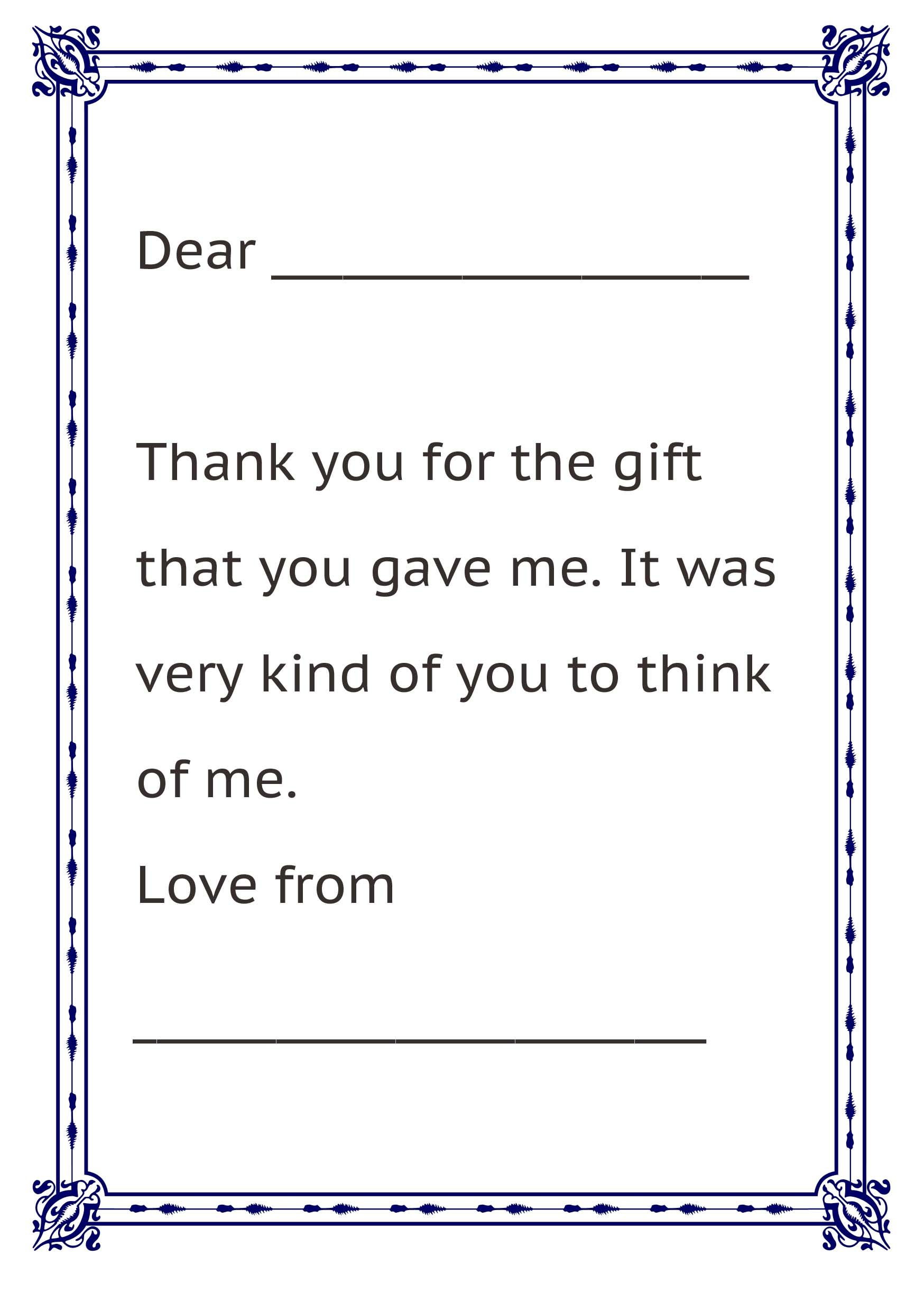 Thank You Letter From Kids  Christmas Fun