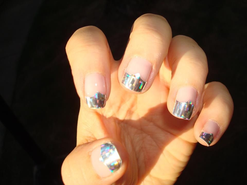 Holographic Jamberry Nail Wraps, cut into French Tips. Jamberry ...