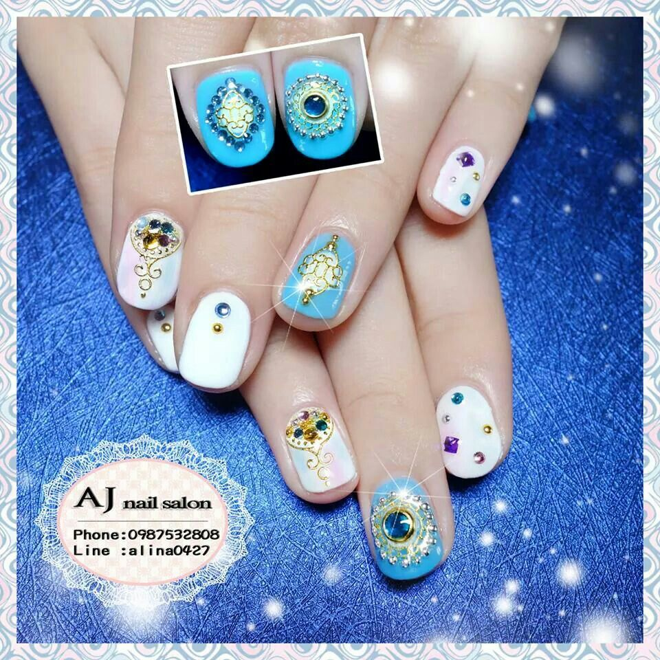 My Pre Wedding Shoot Bohemian Style Nails By AJ Nail Salon In Kaohsiung Taiwan