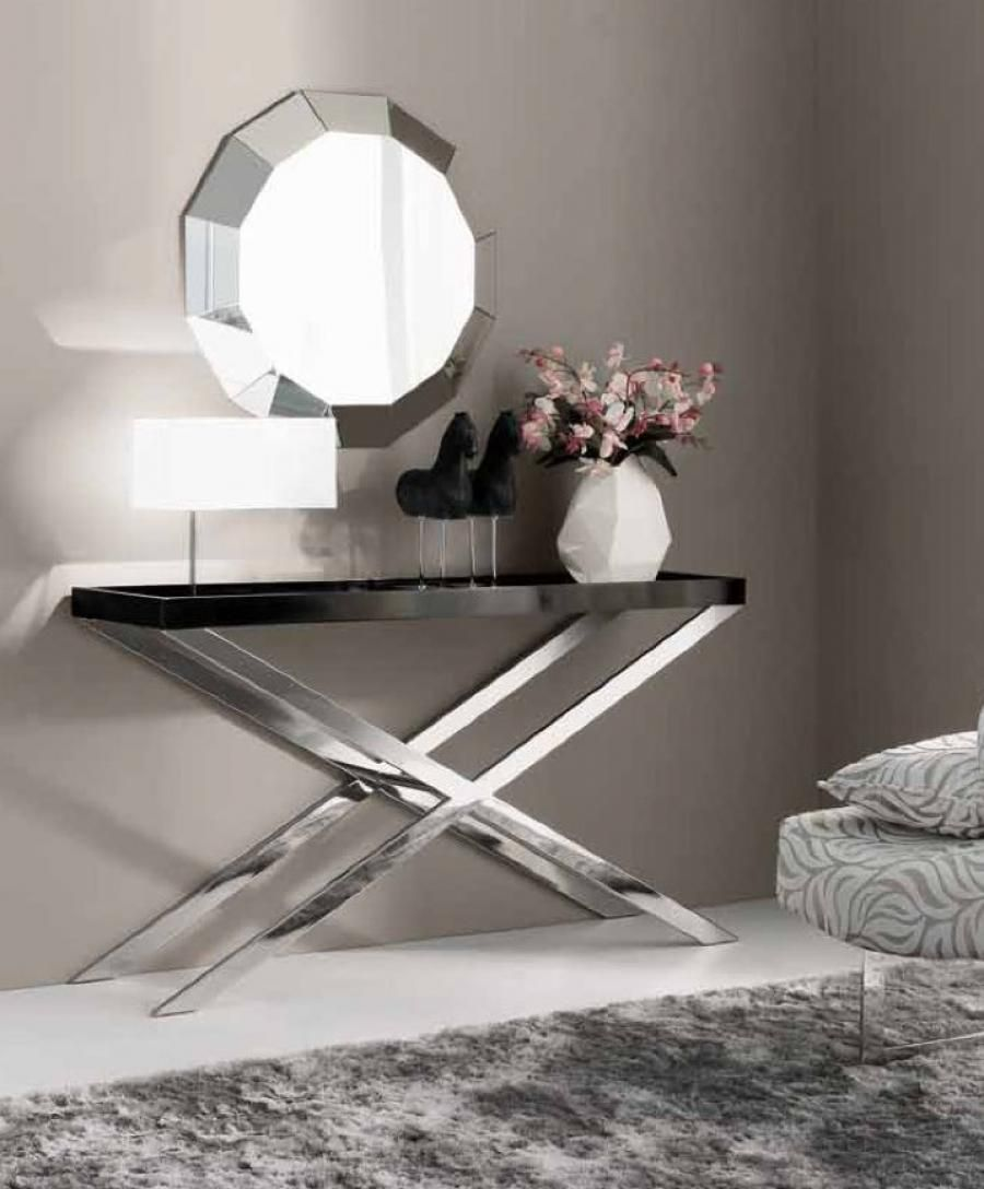 Contemporary console table - Tibet Modern Console Table By Interdesign Many Top Finish Choices