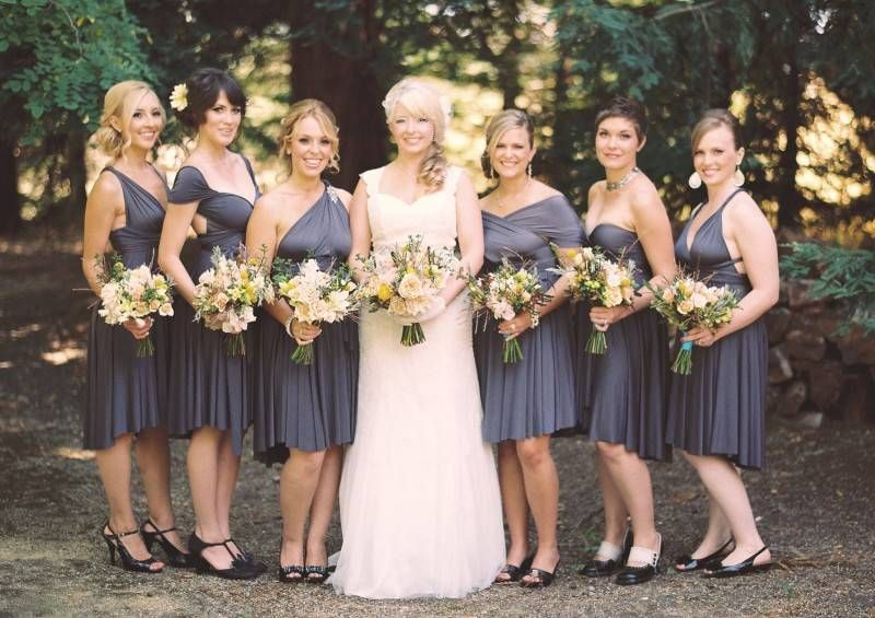 Metallic Bridesmaids Dresses: Perfect For A Fall Or Winter Wedding - Inspired Bride
