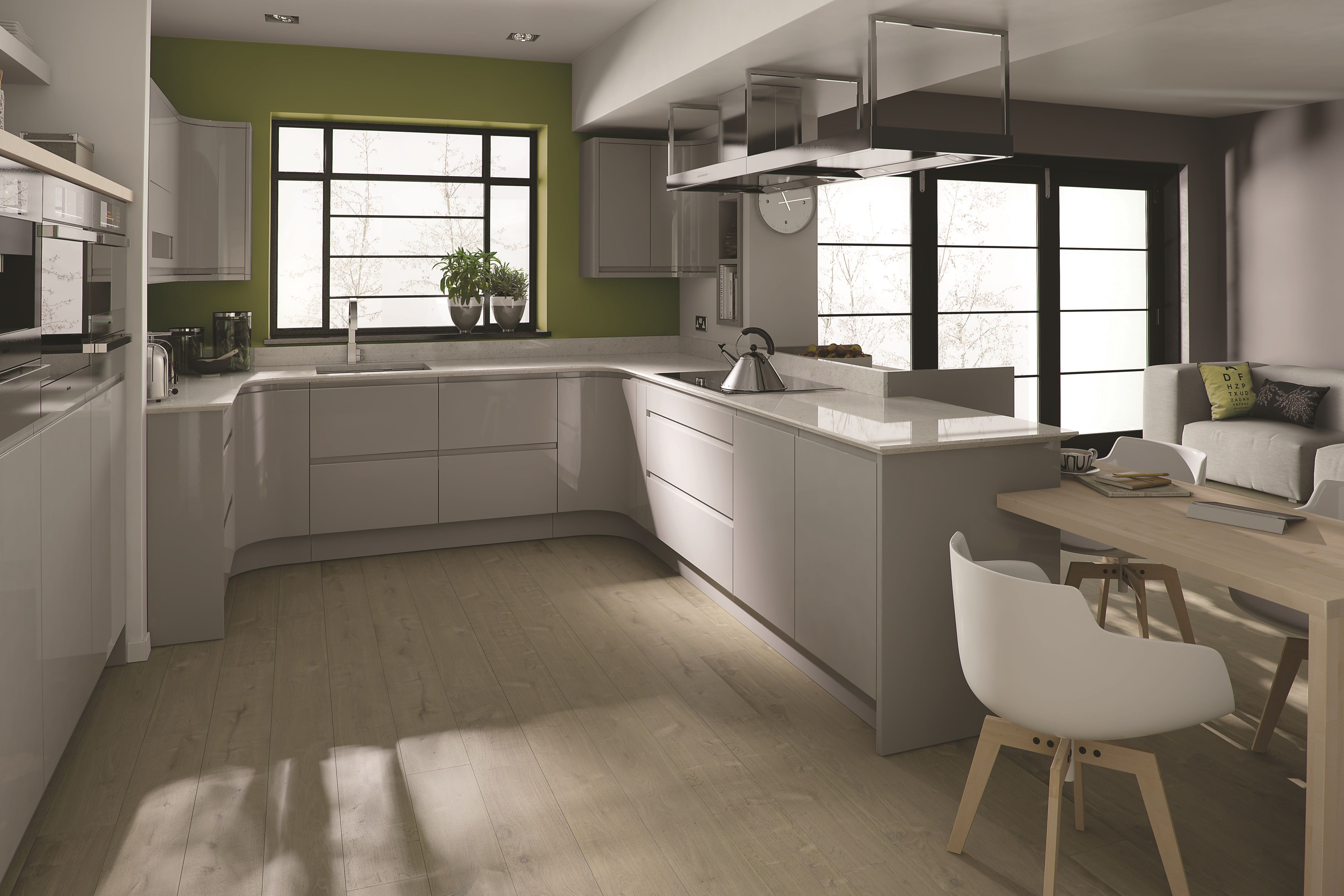 Best Remo Dove Grey This U Shaped Kitchen Design Makes Great 400 x 300