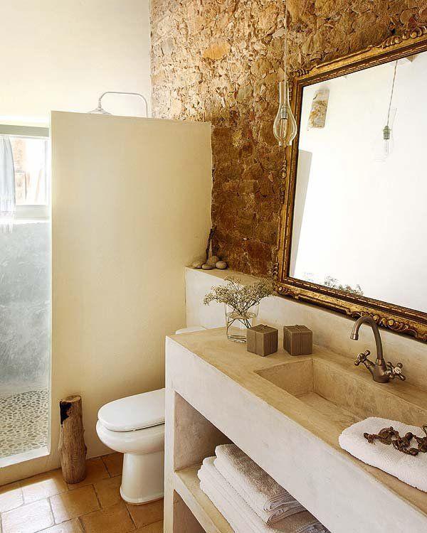 baño rusticos obra - Cerca amb Google Baños Pinterest