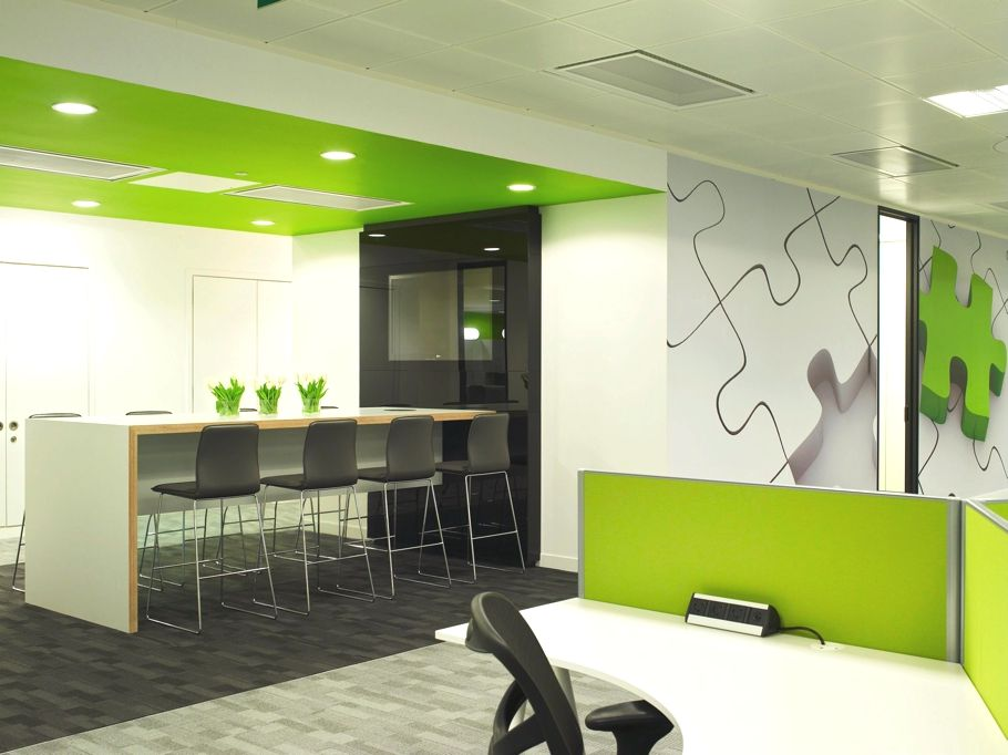Contemporary Office Design Qliktech England Contemporary