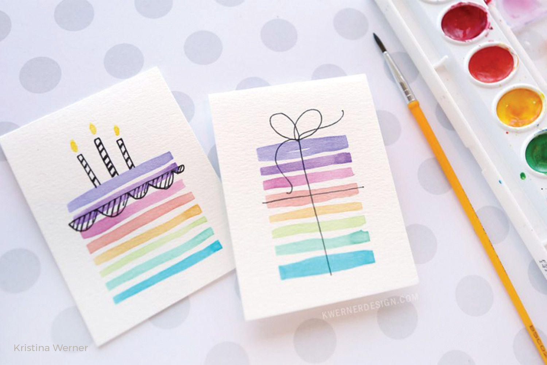 Easy Diy Birthday Cards Using Minimal Supplies Watercolor