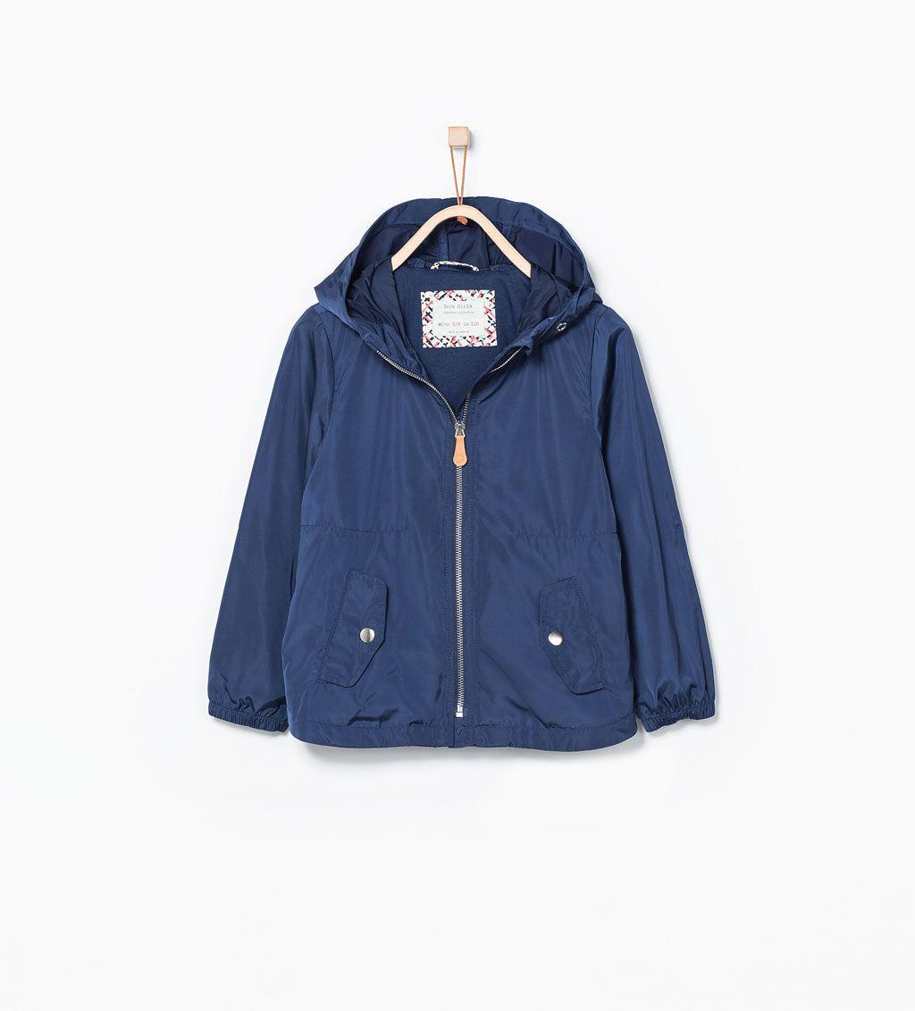 Imagem 1 de Impermeável capuz básico da Zara
