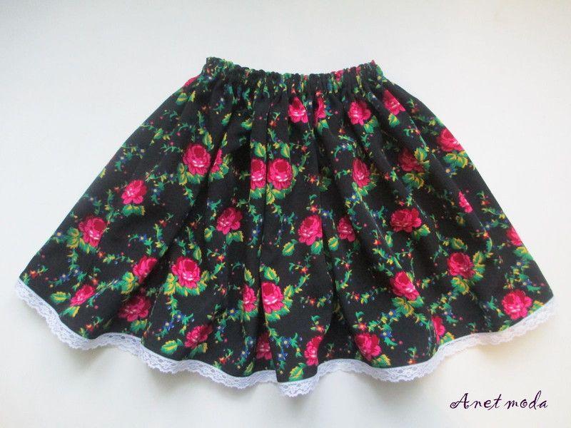 92b9f456 Spódnica krakowska dla dziewczynki 3 do 7 lat w Anetmoda na DaWanda ...