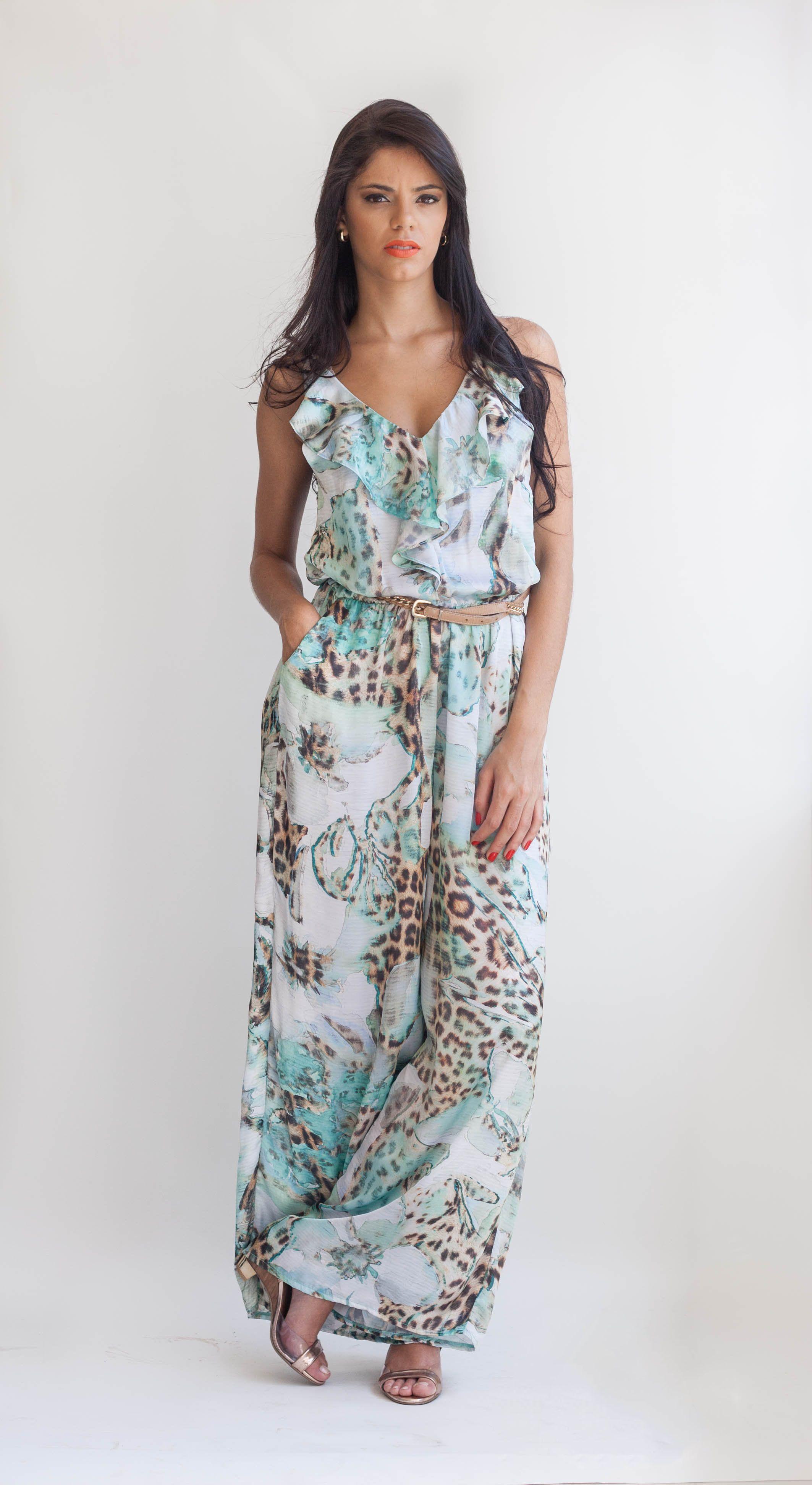 16341aad5 Macacão pantalona estampado da Look Belle | Alto Verão 2015 - Look ...