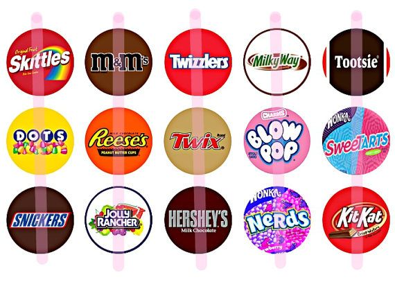 instant download candy logo 15 1 inch bottle by