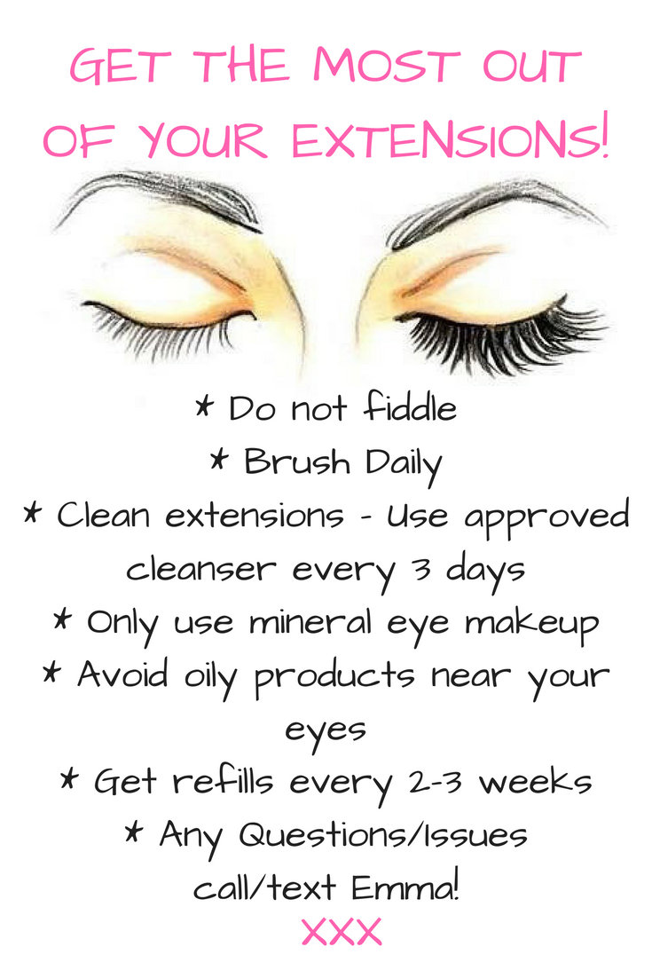 How To Take Care Of Lash Extensions Eyelashextensions Products I