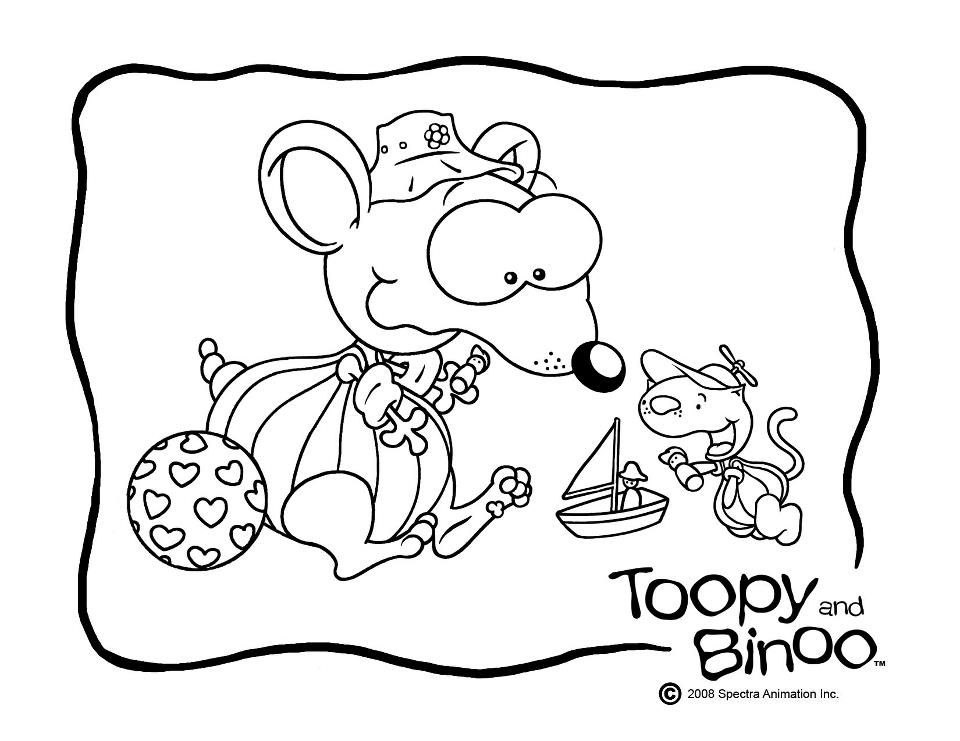 free-toopy-binoo-coloring | Toopy and Binoo | Pinterest | 100 free ...