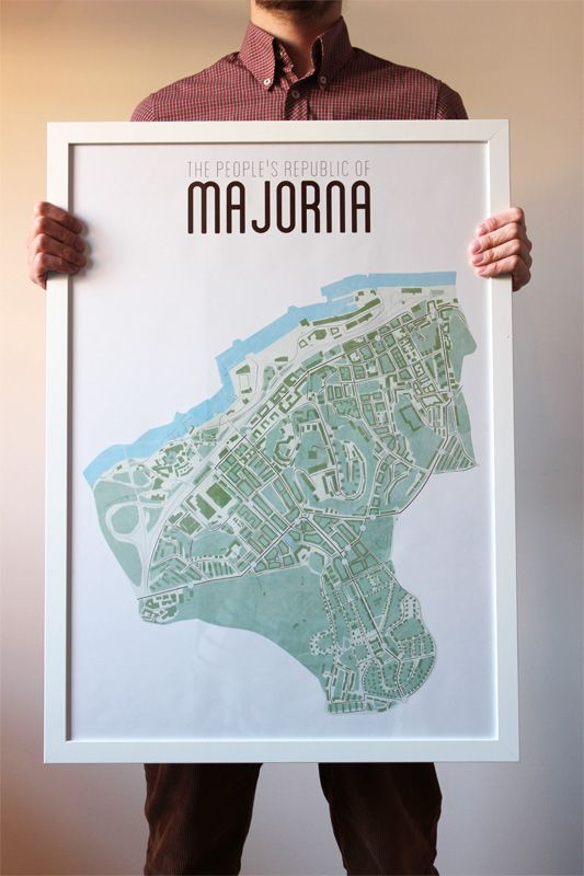 The People S Republic Of Majorna Map Goteborg