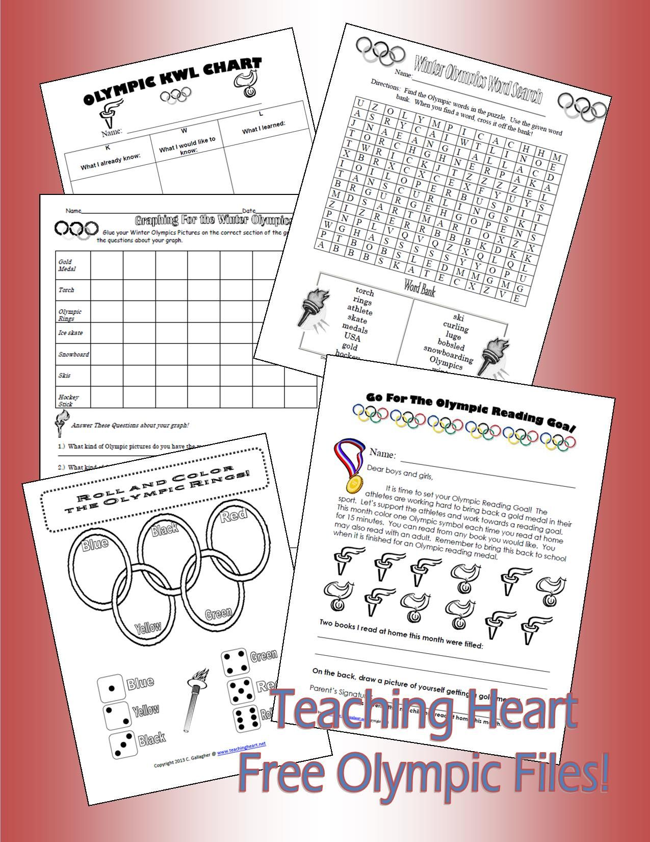 Olympics Dice Game And More Free Teaching Heart Blog Olympics Activities Olympic Lessons Olympics [ 1650 x 1275 Pixel ]