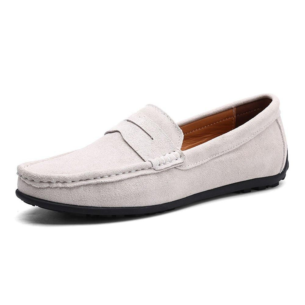 237e46baac3 VILOCY Men s Casual Suede Slip On Driving Moccasins Penny Loafers Flat Boat  Shoes