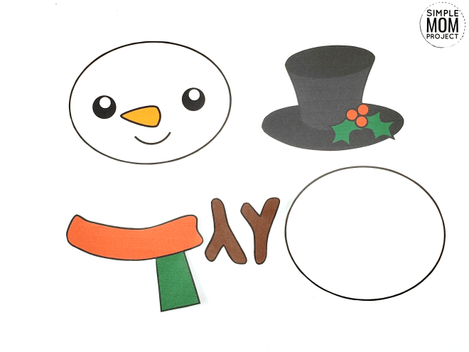 Printable Snowman Craft With Free Template Snowman Crafts Printable Snowman Snowman Cards For Kids
