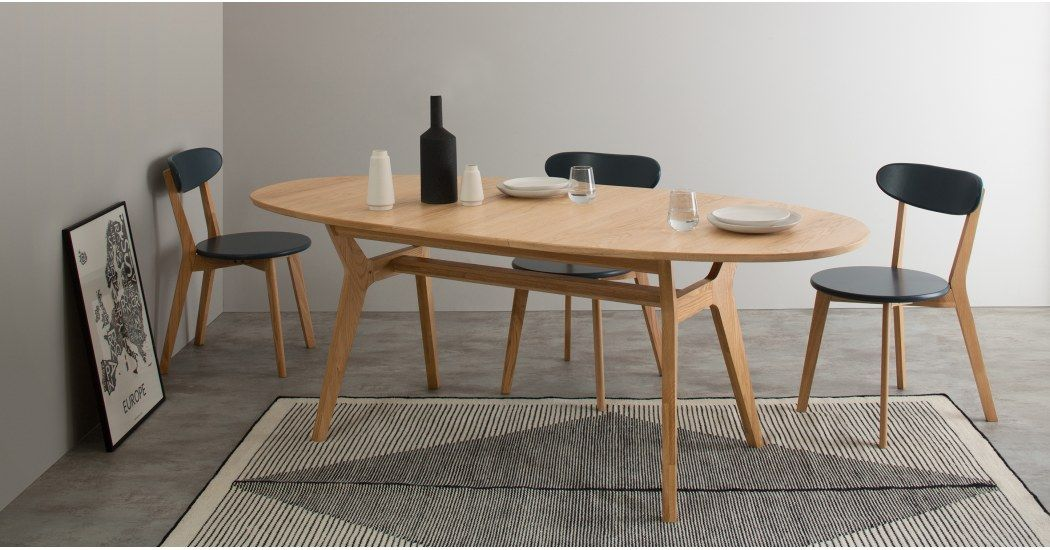 Jenson Table Extensible Ovale 6 A 8 Personnes Chene Table