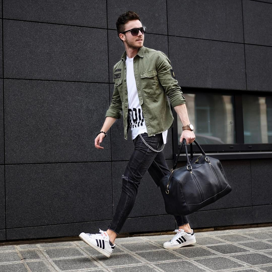 Arquivos Moda Masculina - Marco da Moda. Look masculino com jaqueta militar  ... 0e867c56b6e0c