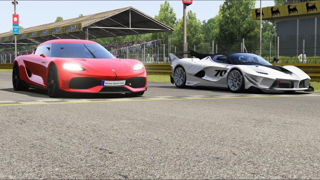 Koenigsegg Gemera vs Ferrari FXX K Evo at Monza Full Course